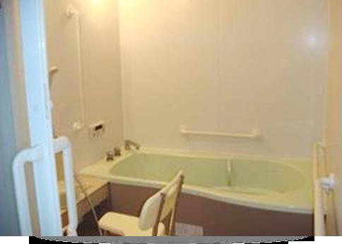 施設内のお風呂場です。